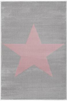 Livone Happy Rugs Shootingstar (160 x 230 cm) grau/rosa