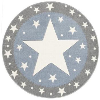 Livone Happy Rugs Confetti (ø 160 cm) silbergrau/blau