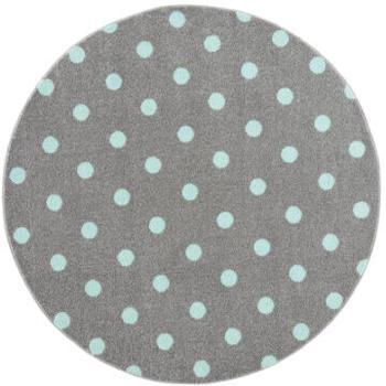 Livone Happy Rugs Circle (ø 100 cm) silbergrau/mint