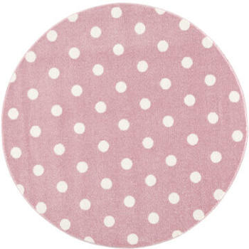 Livone Happy Rugs Circle (ø 100 cm) rosa/weiß