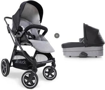hauck-kombi-kinderwagen-ipro-mars-duoset-caviar-stone-mit-babywanne-schwarz