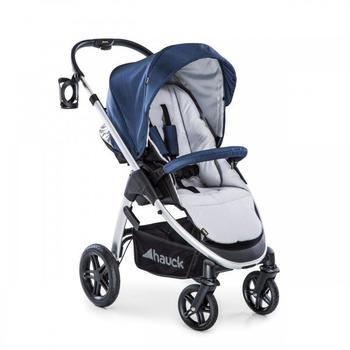 Hauck Kombi-Kinderwagen Saturn R Duoset - Denim Silver, (10-tlg), 2in1 Kinderwagen-Set (Sportwagen und Babywanne) - inkl. XXL Zubehörpaket