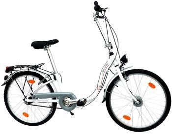 NEUZER Faltrad 24 Zoll RH 29 cm weiß