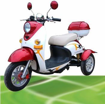 500W ElektroMobil Sam 2 500 Watt 25 km/h rot/weiß