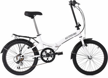 "KS Cycling Foldtech 20"" white"