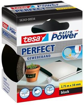 Tesa extra Power Perfect Gewebeband 2,75m x 38mm schwarz