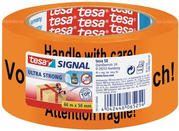 Tesa Signal Ultra Strong Warnklebeband 66m x 50mm, orange
