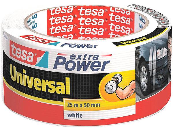 Tesa Extra Power Universal Gewebeband 25m x 50mm weiß