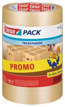 Tesa 66m x 50mm transparent 3 St. ( 57008-00000-01)