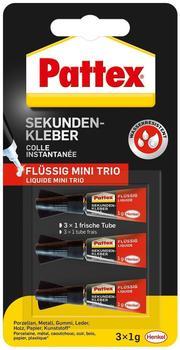 Pattex Sekundenkleber Mini Trio 3x1g flüssig Tube