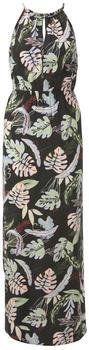 Tom Tailor Denim Maxi Dress with Tropical Print (1018716) black