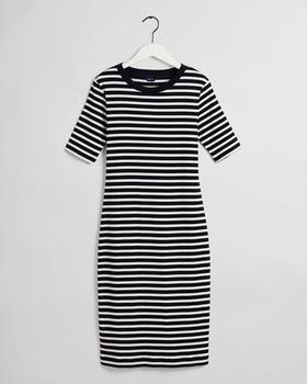 GANT Geripptes Jersey Kleid mit Streifen (4202315-433) evening blue