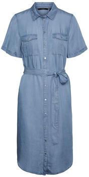 Vero Moda Vmsilja Ss Short Shirt Dress Ga Noos (10251330) light blue denim