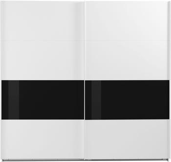 Wimex Bramfeld 225x236cm weiß/Schwarzglas