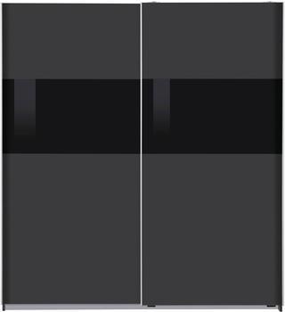 Wimex Bramfeld 180x198cm graphit/Schwarzglas