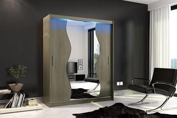 Fun Möbel Dolm LED 10 180x213cm trüffel matt