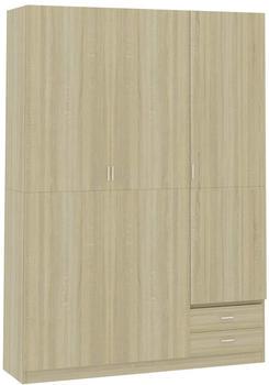 vidaXL Wardrobe 3 Doors Sonoma Oak 120 x 50 x 180 cm