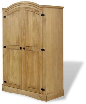 vidaXL Wardrobe Mexican Pine 2 Doors Corona