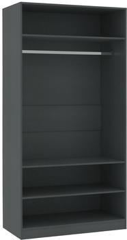 vidaXL Open Wardrobe Grey 100 x 50 x 200 cm