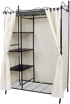 Songmics Wardrobe with Metal Frame and White Fabric