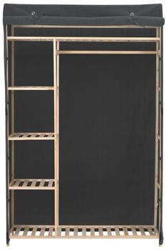 vidaXL Wardrobe Fabric Dark Grey 110 x 40 x 170 cm
