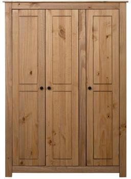vidaXL Wardrobe 3 Doors Pine 118 x 50 x 171,5 cm