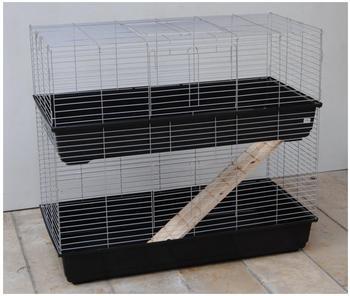 Ollesch Kleintierkäfig 120 x 59 x 103 cm schwarz