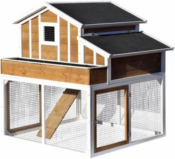Dobar Hühnerstall und Kleintierstall mit Pflanzkasten 126x128x143 cm