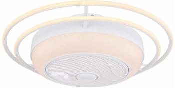 Globo Ventilator ROMARIO Kunstleder weiß GLOBO 03616 (DH 73x23 cm) Globo Lighting