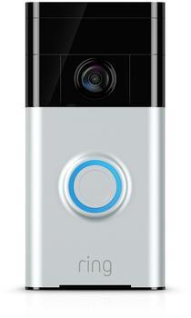 Ring Video-Türklingel mit Bewegungserkennung satin nickel