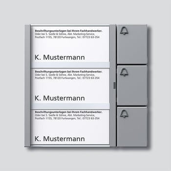 Siedle Tasten-Modul (TM 612-3) silber-metallic
