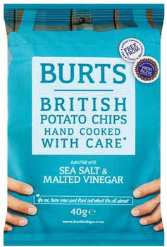 Burts Potatoe Chips Sea Salt & Malted Vinigar (40g)
