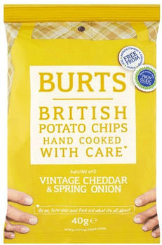 Burts Potato Chips Vintage Cheddar & Spring Onion (40g)
