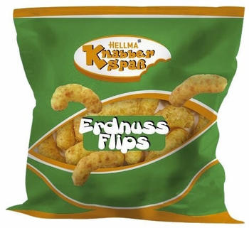 Hellma Erdnussflips - Mais-Erdnuss-Snack (80x8g)
