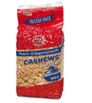 XOX Cashews geröstet & mit Meersalz (500g)