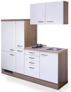 smartmoebel Singleküche 190 cm Valencia - weiss