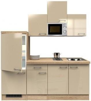 smartmoebel Singleküche 210 cm Neapel - Kaschmir mit Kochmulde