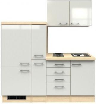 smartmoebel Singleküche 190 cm Ancona weiß
