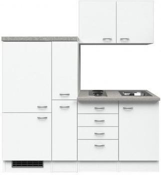 smartmoebel Singleküche 190 cm Witus weiß