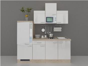smartmoebel Singleküche 210 cm Valencia - weiss