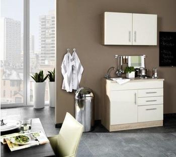 smartmoebel Miniküche 100 cm creme