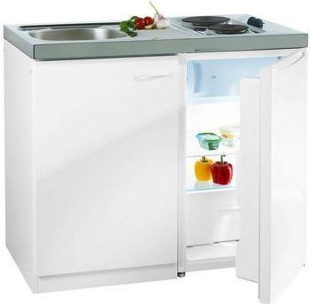 Respekta Miniküche 100 cm weiß (Pantry 100S)
