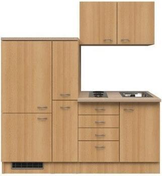 smartmoebel Singleküche 190 cm Namu Buche