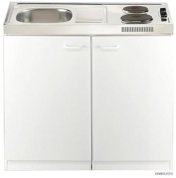 Respekta Miniküche 100 cm weiß ( Pantry OKS )