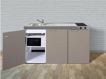 Stengel Premium Miniküche 150 cm beige Becken rechts