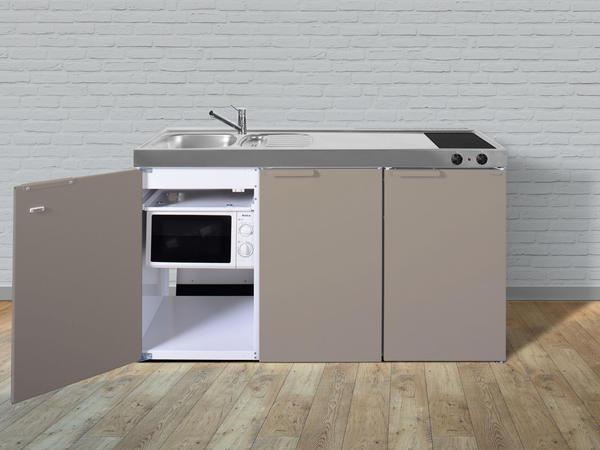 Stengel Premium Miniküche 150 cm beige Becken links
