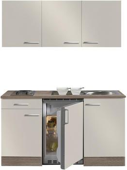 Optifit Singleküche GRANADA - mit Elektro-Kochfeld - 8-teilig - Breite 150 cm - Beige