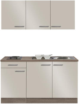 Optifit Singleküche GRANADA - mit Elektro-Kochfeld - 7-teilig - Breite 150 cm - Beige