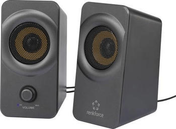 Renkforce RF-PCL-MESH2.0 2.0 PC-Lautsprecher Kabelgebunden 5W Schwarz-Grau