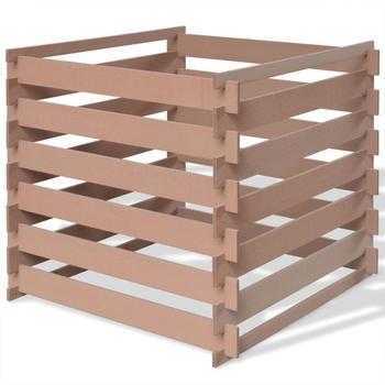 VidaXL WPC Garten-Komposter 90 x 90 x 85 cm